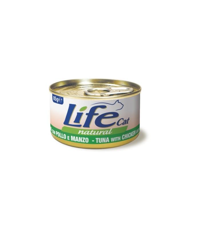 Life cat natural tonno con pollo e manzo 85 gr