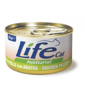 Life cat natural filetti di pollo con anatra 85 gr