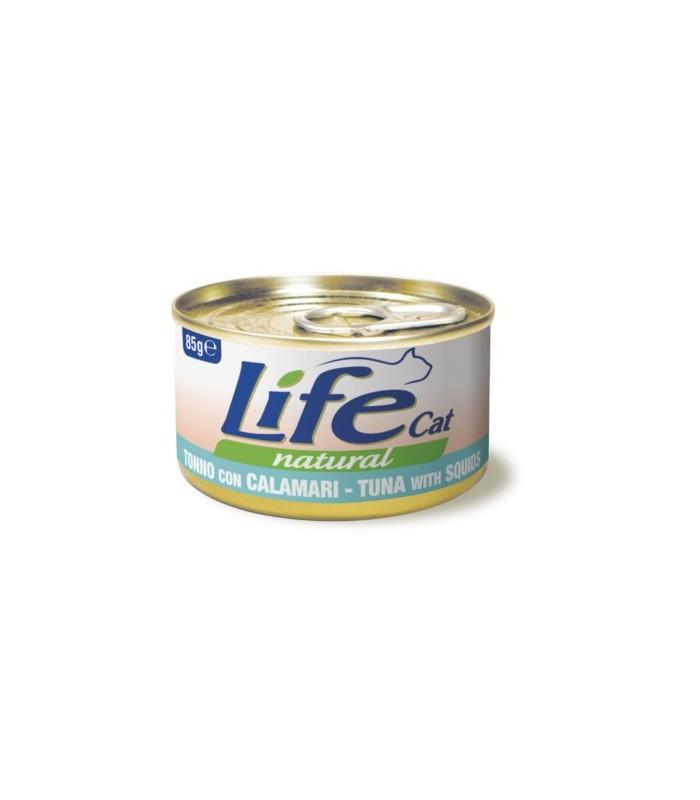 Life cat natural tonno con calamari 85 gr