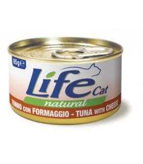 Life cat natural tonno con formaggio 85 gr