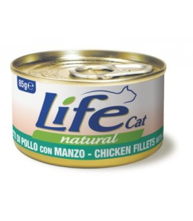 Life cat natural filetti di pollo con manzo 85 gr