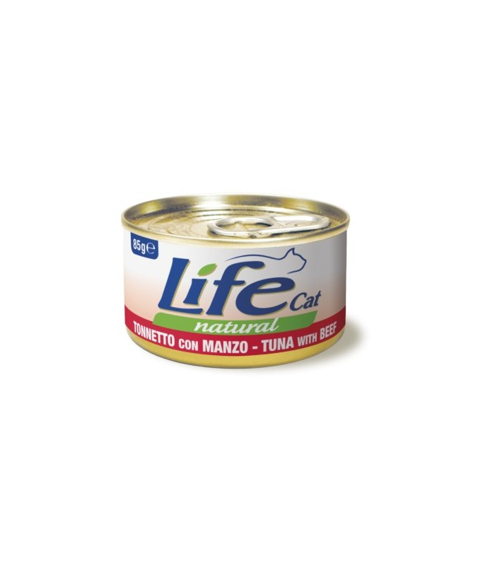 Life cat natural tonnetto con manzo 85 gr