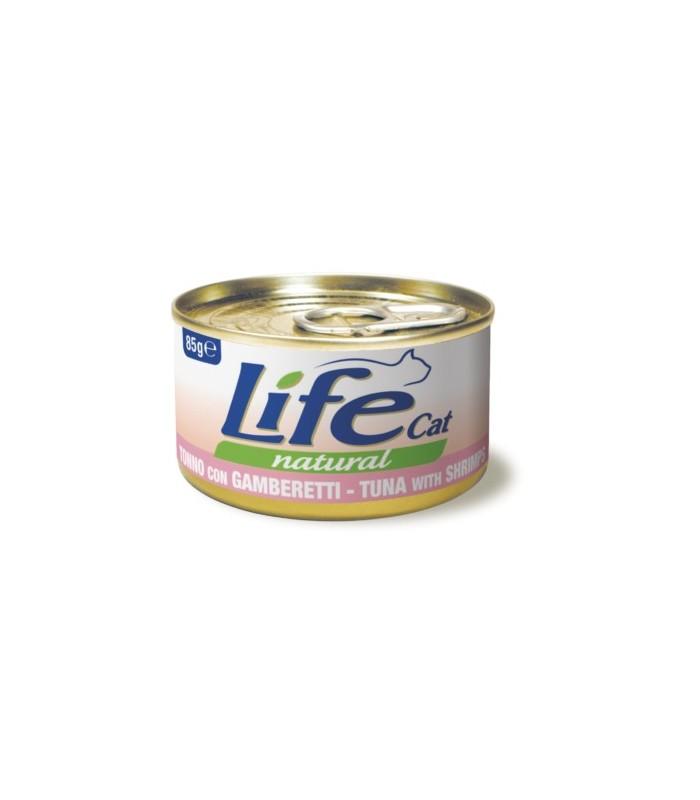 Life cat natural tonno con gamberetti 85 gr