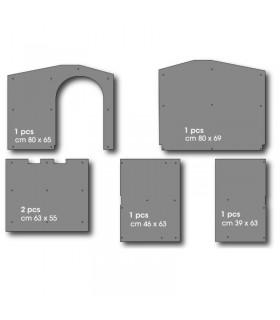 Bama pet kit pannelli isolanti cuccia bungalow large