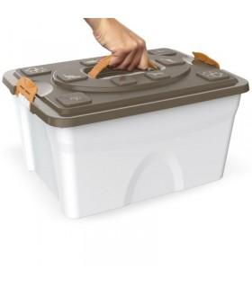Bama pet contenitore sim pet 18 lt tortora