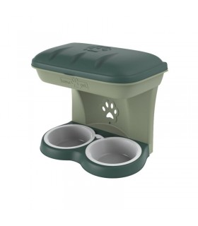 Bama pet ciotola food stand verde