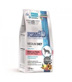 Forza 10 cane medium diet maiale con patate 1,5 kg