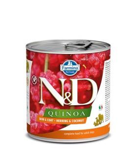 Farmina n&d quinoa adult skin & coat aringa e cocco 285 gr