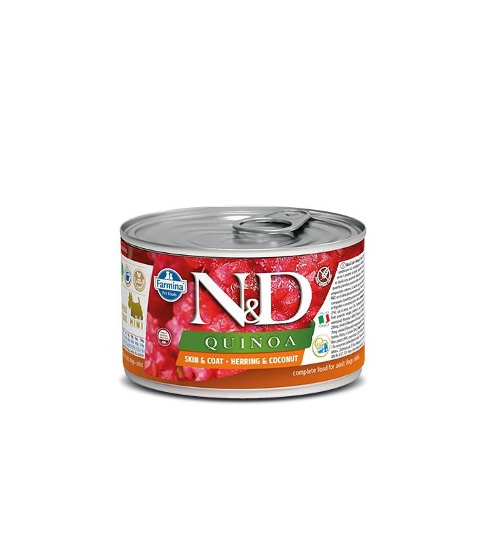 Farmina n&d quinoa adult mini skin & coat aringa e cocco 140 gr