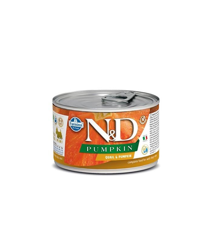 Farmina n&d pumpkin adult mini quaglia e zucca 140 gr