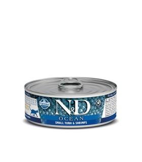 Farmina n&d ocean gatto tonnetto e gambero 80 gr