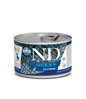 Farmina n&d ocean puppy mini merluzzo e zucca 140 gr
