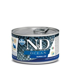 Farmina n&d ocean adult mini salmone e merluzzo 140 gr