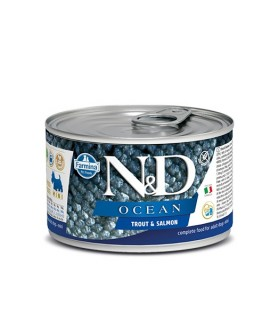 Farmina n&d ocean adult mini trota e salmone 140 gr