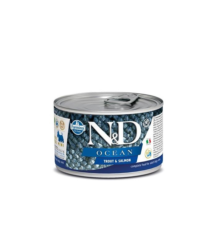 Farmina n&d ocean adult mini trota e salmone 140 gr