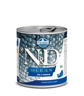 Farmina n&d ocean puppy merluzzo e zucca 285 gr