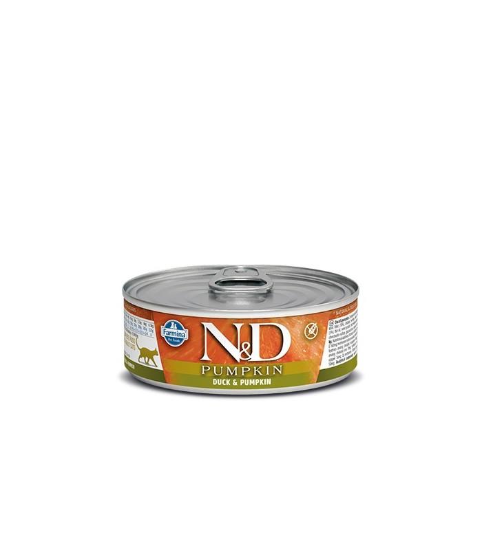 Farmina n&d pumpkin grain free gatto anatra e zucca 80 gr
