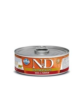 Farmina n&d pumpkin grain free gatto quaglia e zucca 80 gr