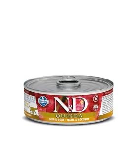 Farmina n&d quinoa gatto skin & coat quaglia e cocco 80 gr