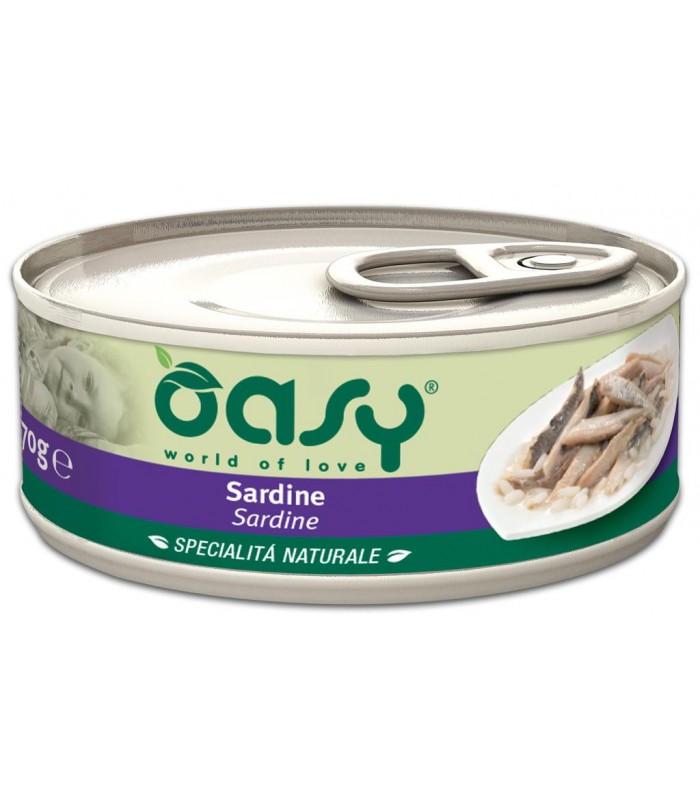 Oasy gatto sardine umido 70 gr