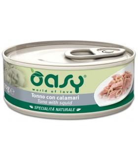 Oasy gatto tonno con calamari umido 70 gr