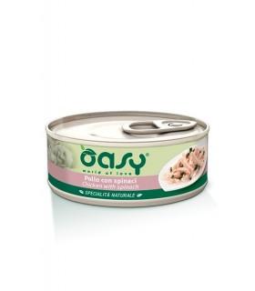 Oasy gatto pollo con spinaci umido 150 gr