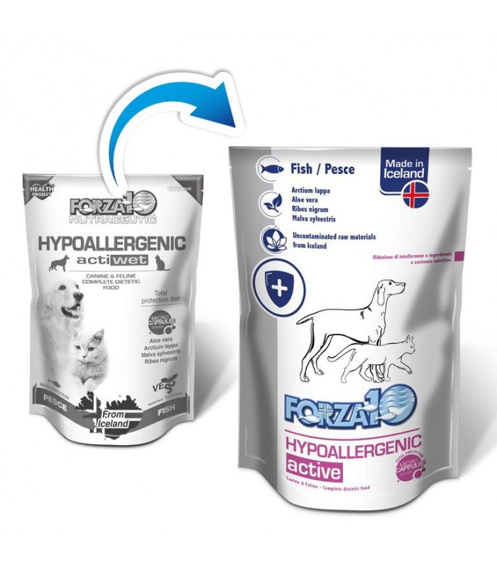Forza 10 hypoallergenic actiwet cane pesce 100 gr