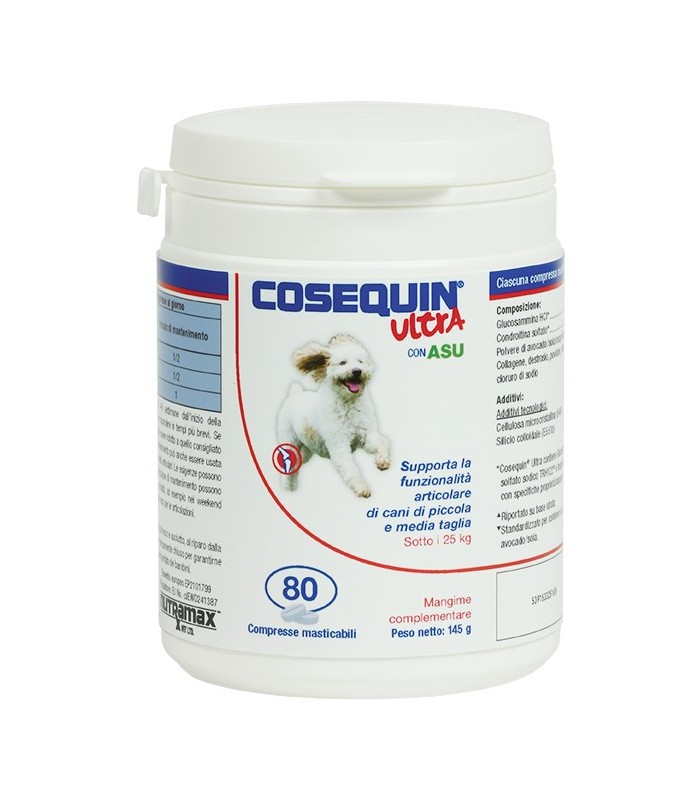 Cosequin ultra small & medium 80 compresse sotto 25 kg 145 gr