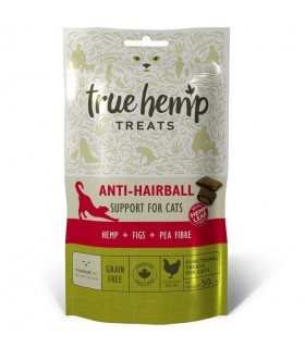 True hemp gatto anti hairball 50 grammi