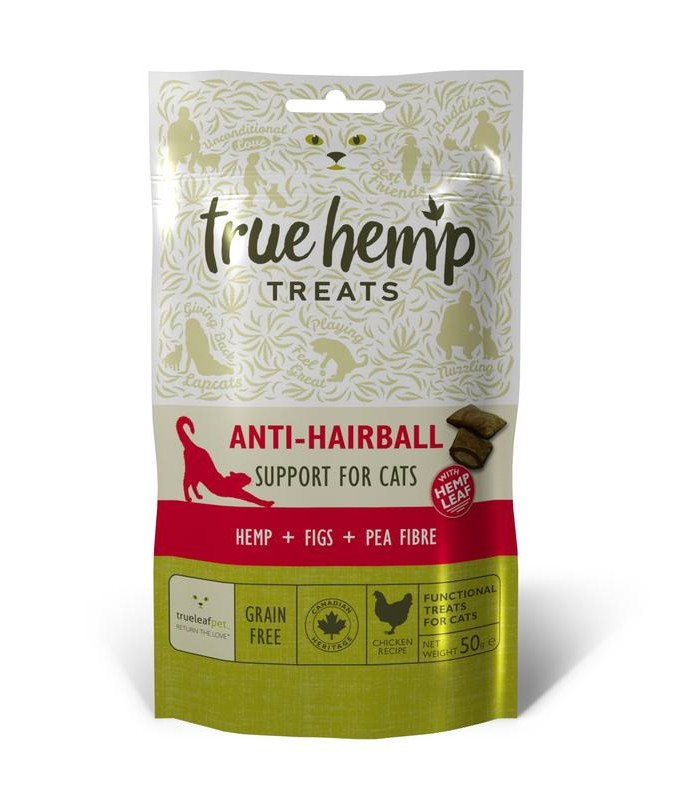 True hemp gatto anti hairball 50 gr