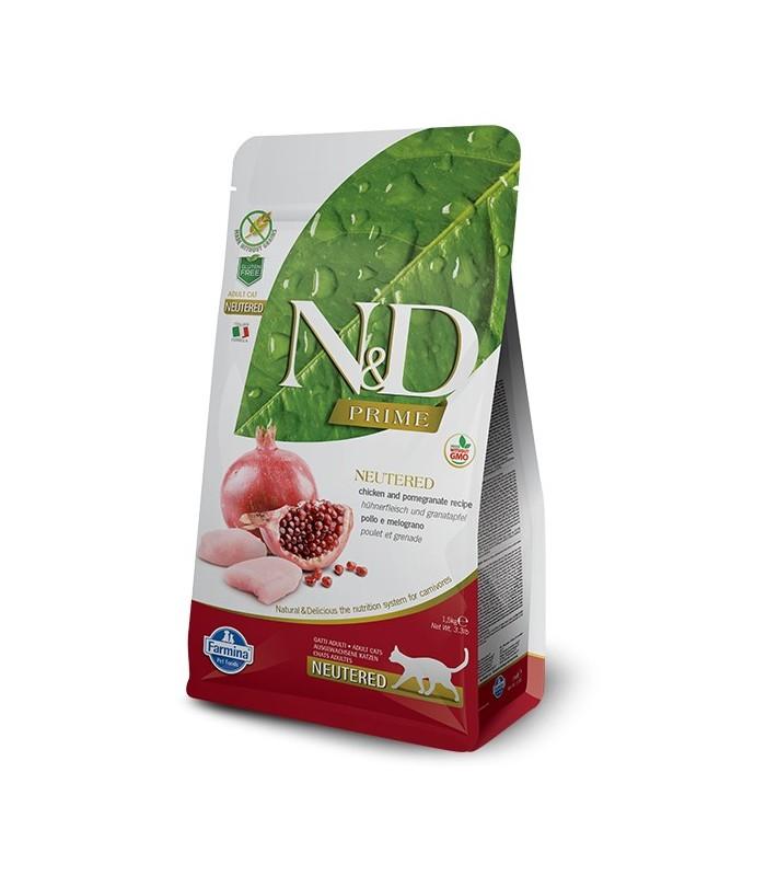 Farmina n&d prime gatto neutered pollo melograno 1,5 kg
