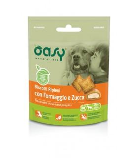 Oasy snack cane biscotti ripieni con formaggio e zucca 70 gr