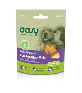 Oasy snack cane biscotti ripieni con agnello e mela 70 gr