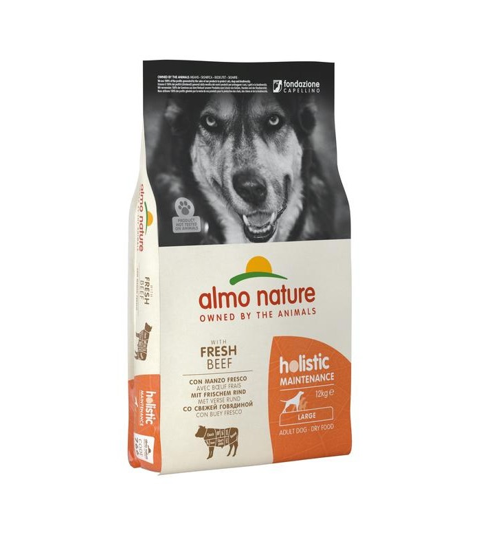 Almo nature holistic cane adult large con manzo 12 kg
