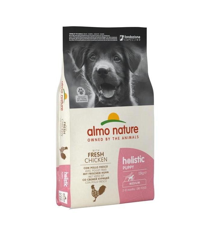 Almo nature holistic puppy medium con pollo e riso 12 kg
