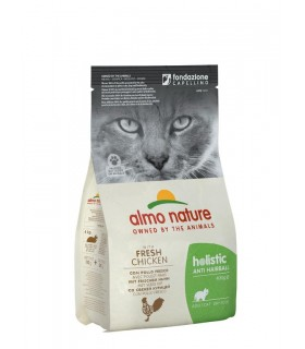 Almo nature holistic gatto adult anti hairball con pollo fresco 400 gr