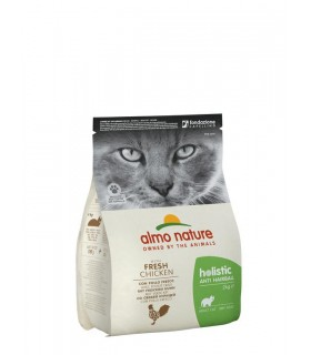 Almo nature holistic gatto adult anti hairball con pollo fresco 2 kg