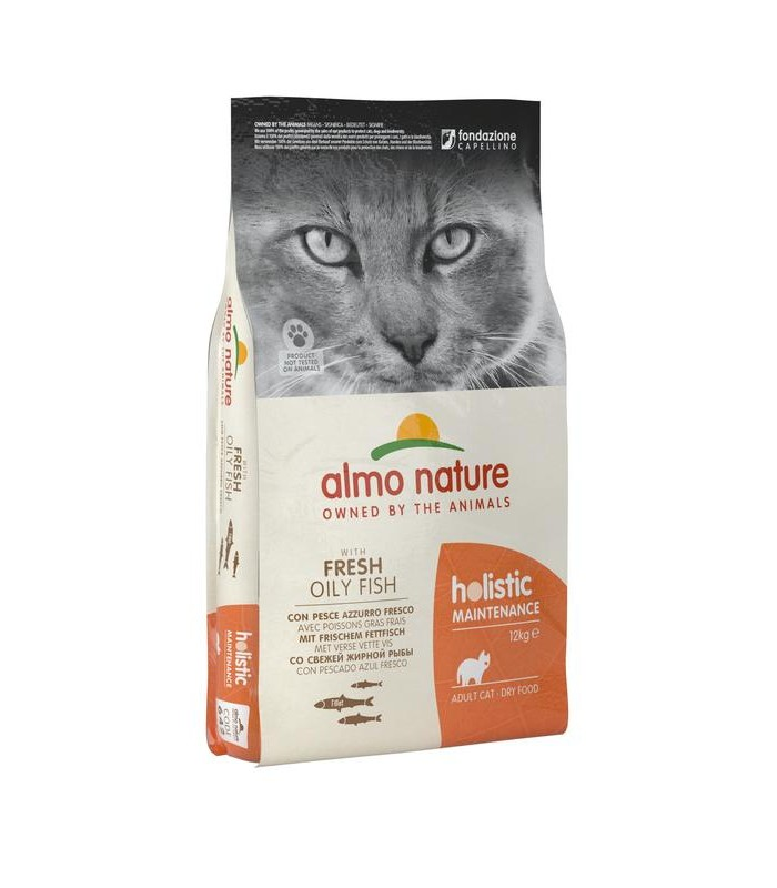 Almo nature holistic gatto adult pesce azzurro e riso 12 kg