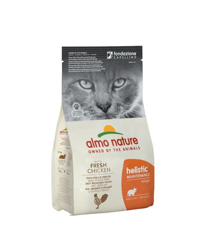Almo nature holistic gatto adult con pollo fresco 400 gr