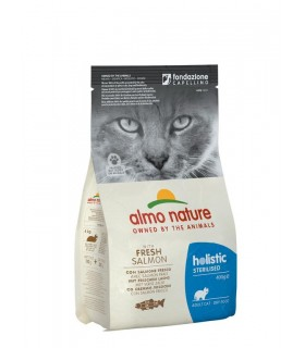 Almo nature holistic gatto adult sterilised con salmone fresco 400 gr