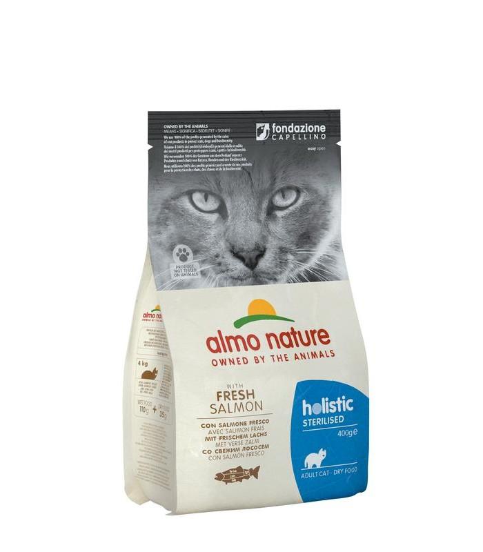 Almo nature holistic gatto adult sterilised con salmone fresco 400 gr