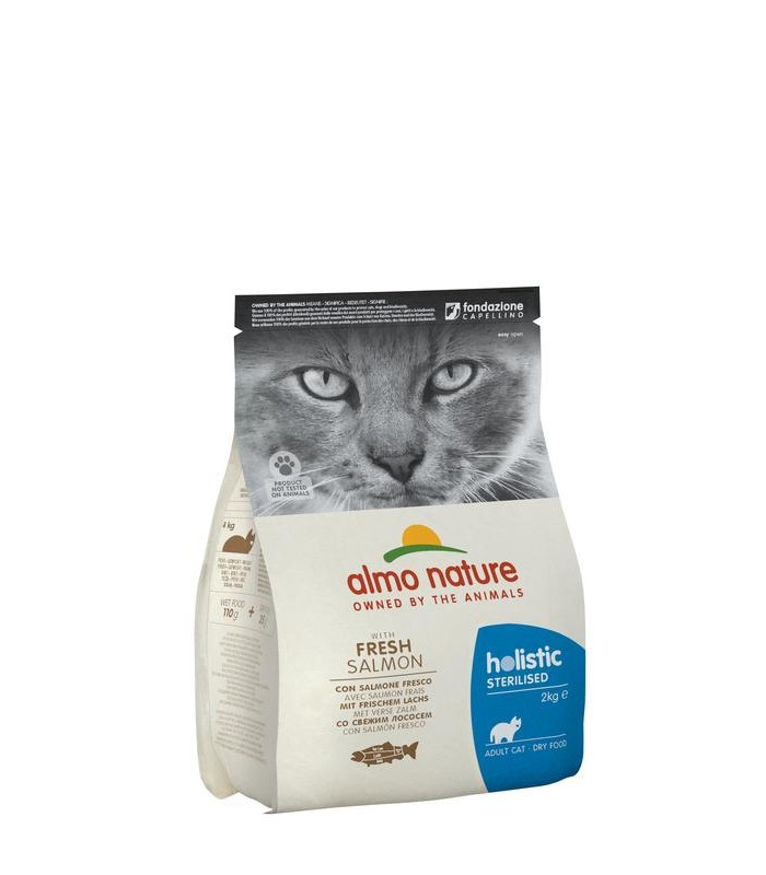 Almo nature holistic gatto adult sterilised con salmone fresco 2 kg