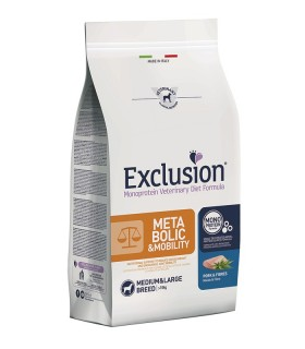 Exclusion diet formula metabolic & mobility maiale e fibre medium large 12 kg