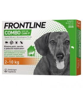 Frontline combo cani piccoli 3 pipette 0,67 ml 2-10 kg