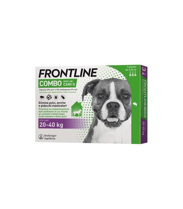 Frontline combo cani grandi 3 pipette 2,68 ml 20-40 kg