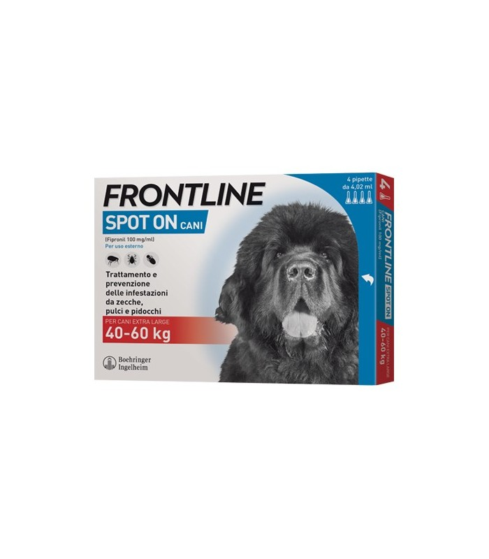 Frontline spot on cani extra large 4 pipette 4,02 ml 40-60 kg