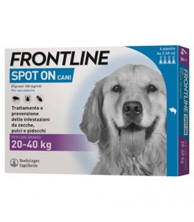 Frontline spot on cani grandi 4 pipette 2,68 ml 20-40 kg