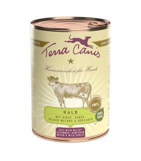 Terra canis classic vitello con miglio, cetriolo, melone giallo e aglio orsino 400 gr