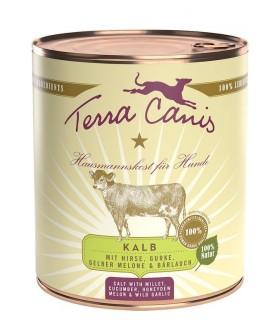 Terra canis classic vitello con miglio, cetriolo, melone giallo e aglio orsino 800 gr