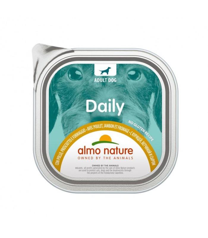 Almo nature pfc daily menù cane con pollo prosciutto e formaggio 300 gr